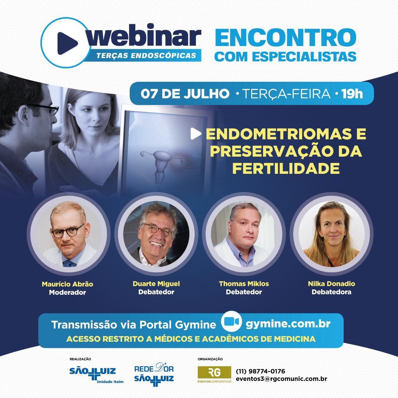 WEBINAR Endometriomas e Preservação da Fertilidade